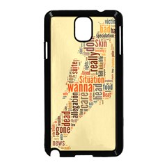 Michael Jackson Typography They Dont Care About Us Samsung Galaxy Note 3 Neo Hardshell Case (Black)