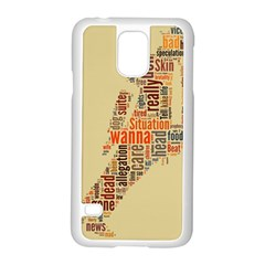 Michael Jackson Typography They Dont Care About Us Samsung Galaxy S5 Case (White)
