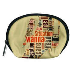 Michael Jackson Typography They Dont Care About Us Accessory Pouch (Medium)