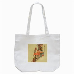 Michael Jackson Typography They Dont Care About Us Tote Bag (white)