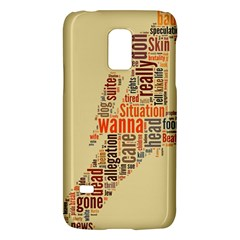 Michael Jackson Typography They Dont Care About Us Samsung Galaxy S5 Mini Hardshell Case