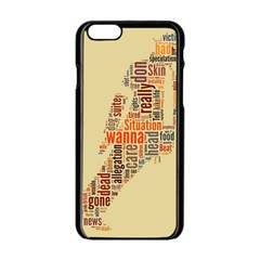 Michael Jackson Typography They Dont Care About Us Apple Iphone 6 Black Enamel Case