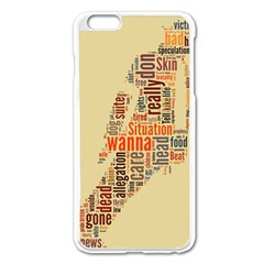 Michael Jackson Typography They Dont Care About Us Apple iPhone 6 Plus Enamel White Case