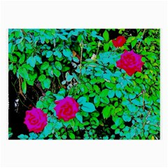 Rose Bush Glasses Cloth (large, Two Sided)