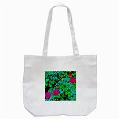 Rose Bush Tote Bag (White)