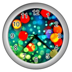 A Dream Of Bubbles Wall Clock (silver)