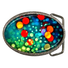 A Dream Of Bubbles Belt Buckle (oval)