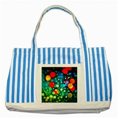 A Dream Of Bubbles Blue Striped Tote Bag