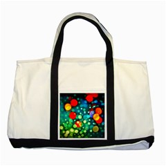 A Dream Of Bubbles Two Toned Tote Bag