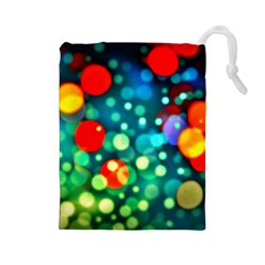 A Dream Of Bubbles Drawstring Pouch (Large)