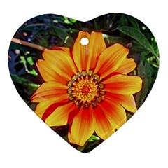 Flower In A Parking Lot Heart Ornament