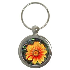 Flower In A Parking Lot Key Chain (round)