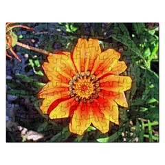 Flower In A Parking Lot Jigsaw Puzzle (Rectangle)