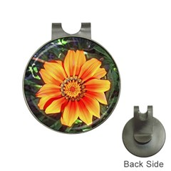 Flower In A Parking Lot Hat Clip With Golf Ball Marker