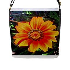 Flower In A Parking Lot Flap Closure Messenger Bag (large)
