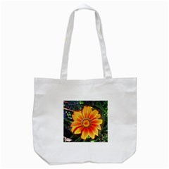 Flower In A Parking Lot Tote Bag (white)