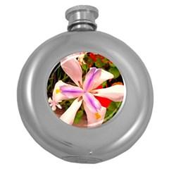 African Iris Hip Flask (round)