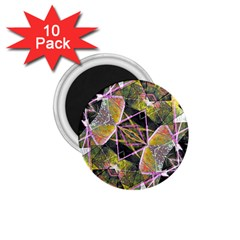 Geometric Grunge Pattern Print 1.75  Button Magnet (10 pack)