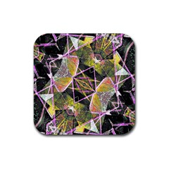 Geometric Grunge Pattern Print Drink Coasters 4 Pack (square)