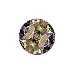 Geometric Grunge Pattern Print Golf Ball Marker 10 Pack