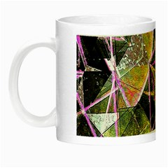 Geometric Grunge Pattern Print Glow In The Dark Mug