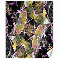 Geometric Grunge Pattern Print Canvas 20  x 24  (Unframed)