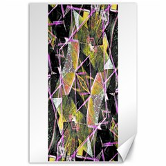 Geometric Grunge Pattern Print Canvas 24  x 36  (Unframed)