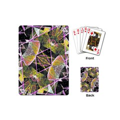 Geometric Grunge Pattern Print Playing Cards (mini)