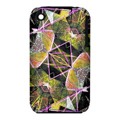 Geometric Grunge Pattern Print Apple iPhone 3G/3GS Hardshell Case (PC+Silicone)