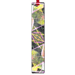 Geometric Grunge Pattern Print Large Bookmark