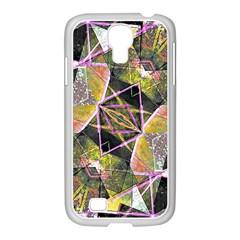 Geometric Grunge Pattern Print Samsung GALAXY S4 I9500/ I9505 Case (White)