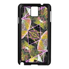 Geometric Grunge Pattern Print Samsung Galaxy Note 3 N9005 Case (Black)