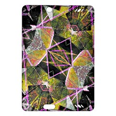 Geometric Grunge Pattern Print Kindle Fire HD (2013) Hardshell Case