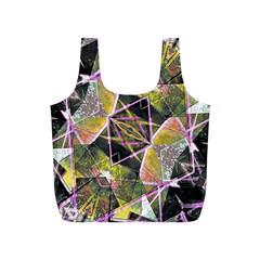Geometric Grunge Pattern Print Reusable Bag (S)