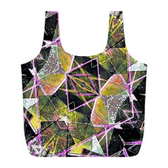Geometric Grunge Pattern Print Reusable Bag (l)