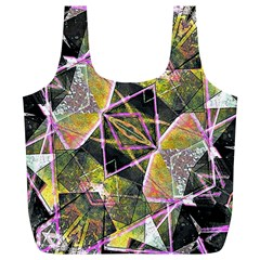Geometric Grunge Pattern Print Reusable Bag (XL)