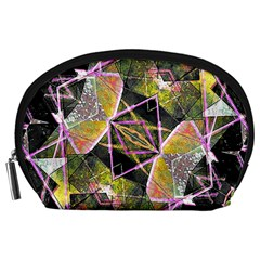 Geometric Grunge Pattern Print Accessory Pouch (large)