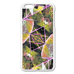 Geometric Grunge Pattern Print Apple iPhone 6 Plus Enamel White Case