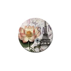 Vintage Paris Eiffel Tower Floral Golf Ball Marker 4 Pack