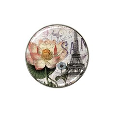 Vintage Paris Eiffel Tower Floral Golf Ball Marker 10 Pack (for Hat Clip)