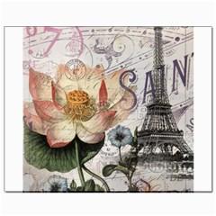 Vintage Paris Eiffel Tower Floral Canvas 8  X 10  (unframed)