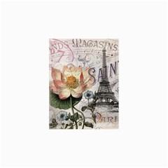 Vintage Paris Eiffel Tower Floral Canvas 20  x 20  (Unframed)