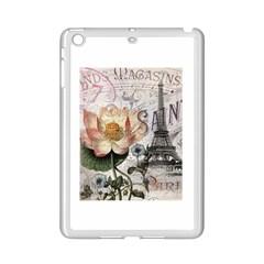 Vintage Paris Eiffel Tower Floral Apple iPad Mini 2 Case (White)
