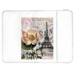 Vintage Paris Eiffel Tower Floral Samsung Galaxy Tab 7  P1000 Flip Case