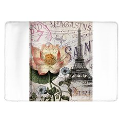 Vintage Paris Eiffel Tower Floral Samsung Galaxy Tab 10.1  P7500 Flip Case