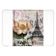 Vintage Paris Eiffel Tower Floral Samsung Galaxy Tab 8.9  P7300 Flip Case