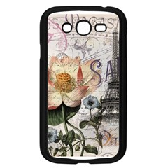 Vintage Paris Eiffel Tower Floral Samsung Galaxy Grand DUOS I9082 Case (Black)