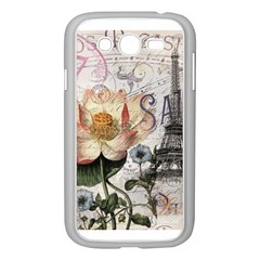 Vintage Paris Eiffel Tower Floral Samsung Galaxy Grand DUOS I9082 Case (White)