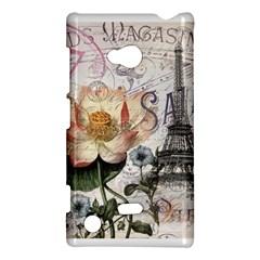 Vintage Paris Eiffel Tower Floral Nokia Lumia 720 Hardshell Case