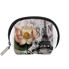 Vintage Paris Eiffel Tower Floral Accessory Pouch (small)